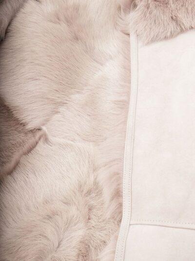 Womens Grey Toscana Shearling Leather Gilet Fur - Tasman
