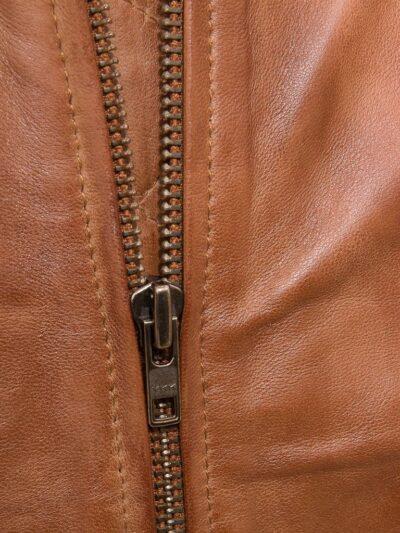 Mens Tan Classic Bomber Leather - Closer - Kurow