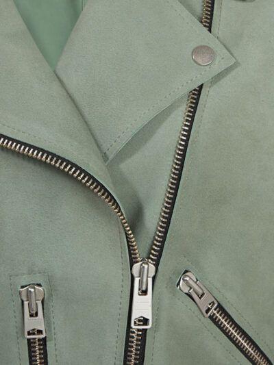 Womens Fern Biker Leather Jacket - Zip - Gisborne