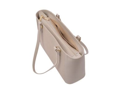 Leather Multi-functional Hand Bag Off White