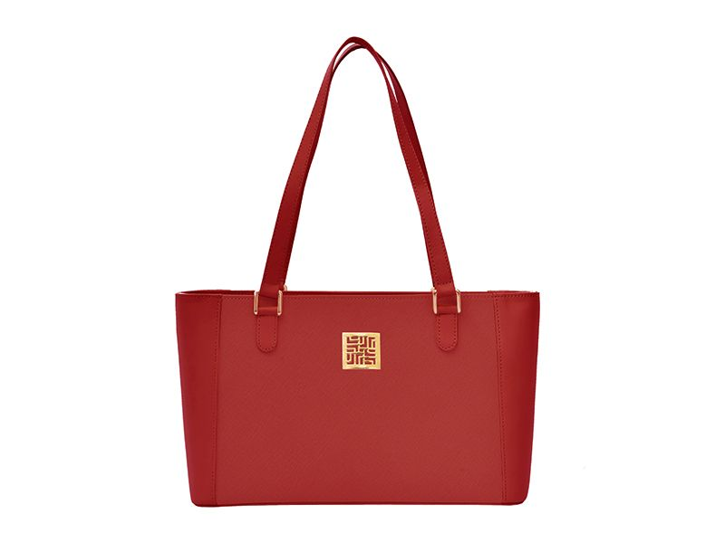 Leather Multi-functional Hand Bag Red