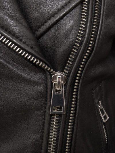 Womens Black Classic Biker Leather Jacket